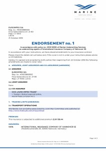 181031 pol 2018-ML-0335 Euroimpex ENDORSEMENT 1 CL signed (00000003) 1